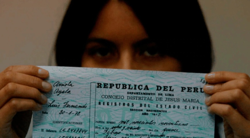 Acta de nacimiento Perú Reniec