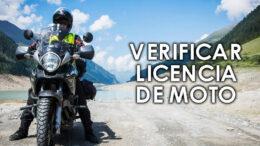 Verificar licencia de moto Perú